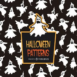 Spooky Halloween ghost pattern