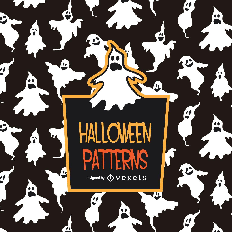 Patrón de fantasma de Halloween espeluznante