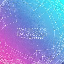 Farbverlauf Aquarell Hintergrund Masche