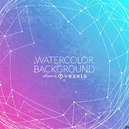 Gradient watercolor background mesh