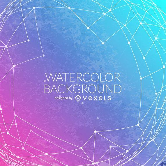 Gradient watercolor background mesh