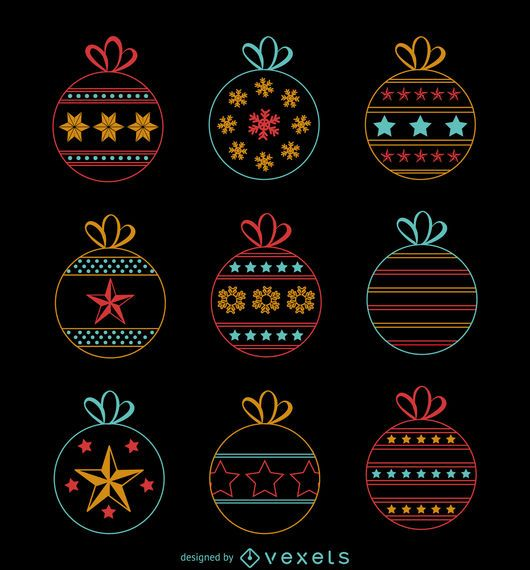Christmas neon decoration collection