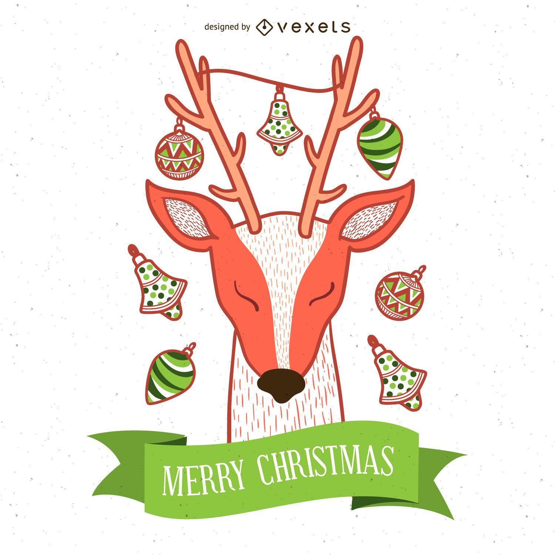 7 deer silhouettes set - Vector download