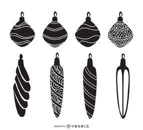 decorações da árvore de Natal ajustada