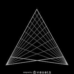 Diseño de geometría sagrada de cuadrícula triangular