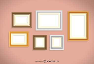Frames on wall set