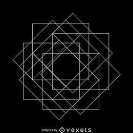 Geometría sagrada de matriz cuadrada