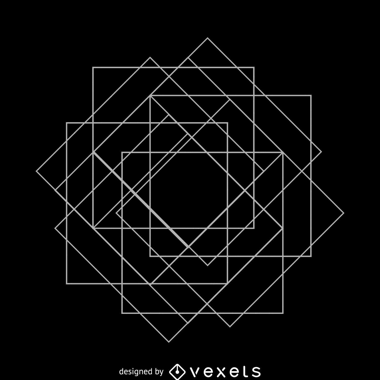 Square matrix sacred geometry