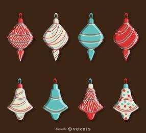 Pack de decoraciones navideñas vintage
