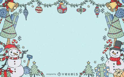 Natal elementos quadro