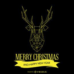 Diseño geométrico de los ciervos de navidad