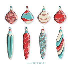 Set de decoracion navideña vintage