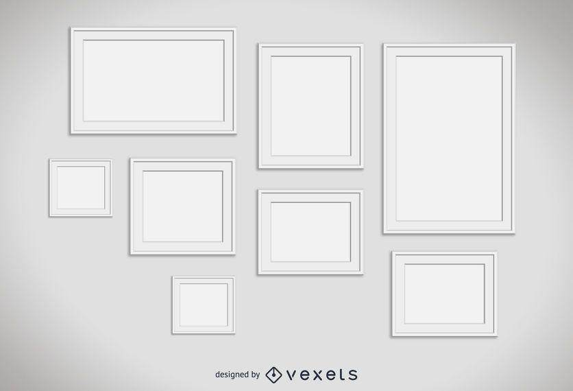Marcos blancos establecidos - Descargar vector