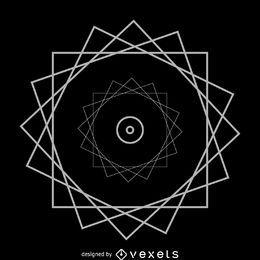 Rueda triángulos geometría sagrada