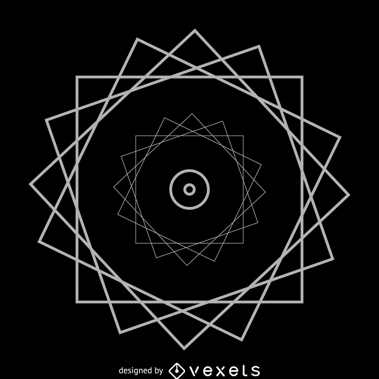 Wheel triangles sacred geometry