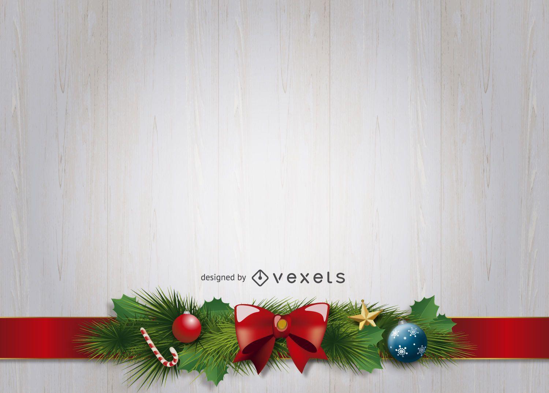 Fondo de adornos de cinta de navidad