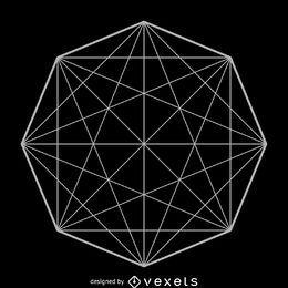 Matriz de octágono geometría sagrada