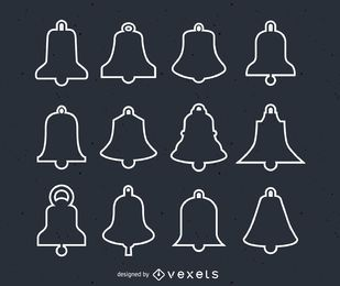 Christmas bells illustration set