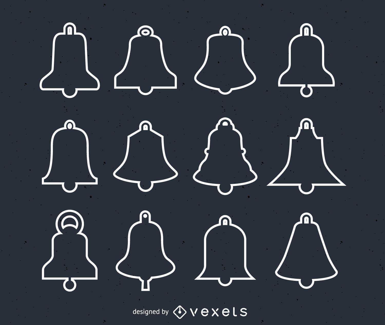 christmas bells illustration set vector download