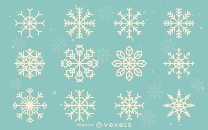 Colección de ilustración de copo de nieve