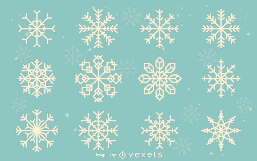 Snowflake illustration collection