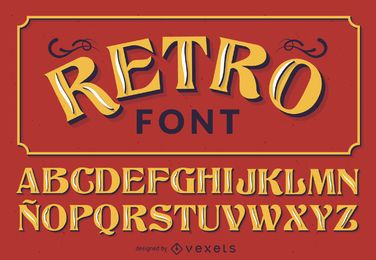 alfabeto font Retro