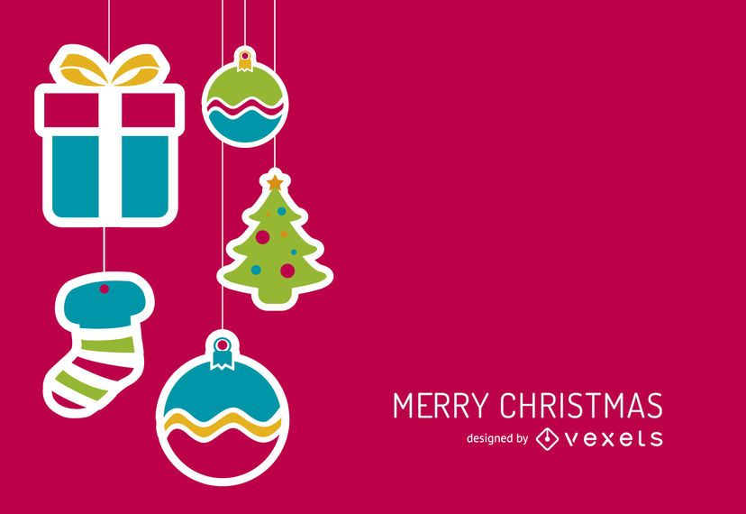 Christmas background stickers