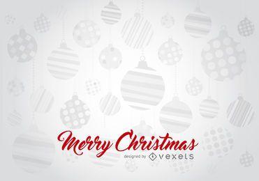 Fondo de Navidad adornos tipografía