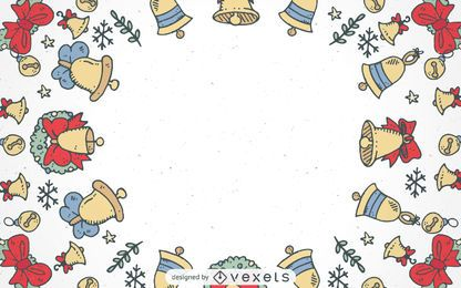 Christmas bells frame background