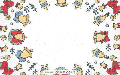 Fondo de marco de campanas de Navidad