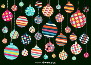 Christmas ornament pattern background design