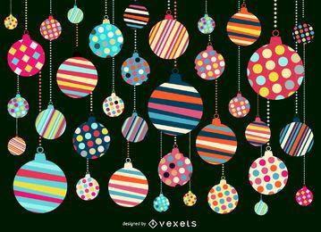 Projeto do Natal ornamento padrão de fundo