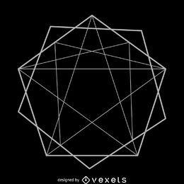 Diseño de ilustración de geometría sagrada abstracta