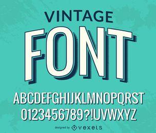 Alfabeto fuente vintage