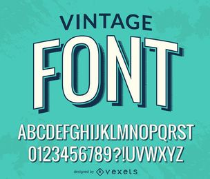 Vintage font alphabet