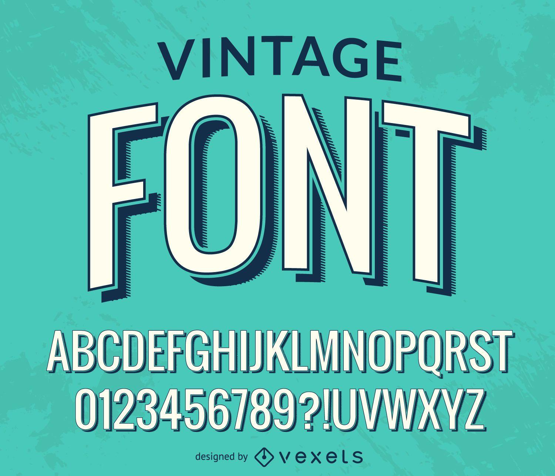 Alfabeto de fonte vintage