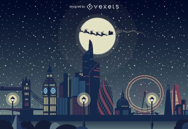 London Christmas skyline