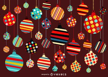 Christmas background with ornament pattern