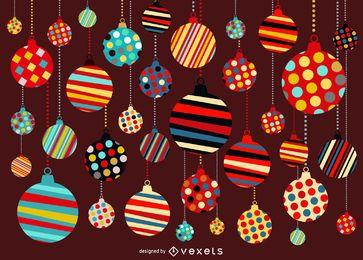 Fundo de Natal com padrão de ornamento