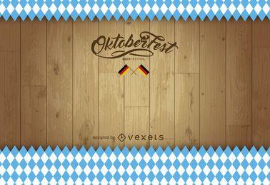 Fundo de madeira da Oktoberfest