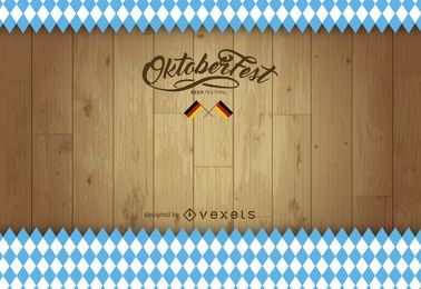 Oktoberfest Holz Hintergrund