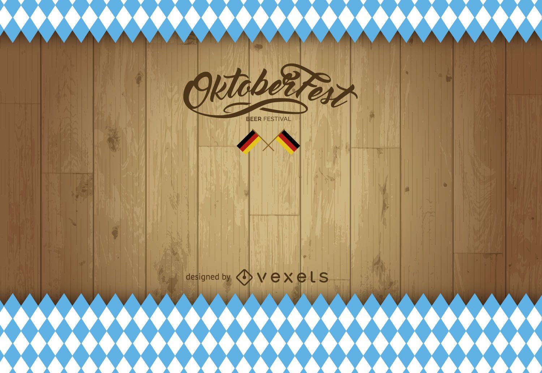 Fondo de madera Oktoberfest
