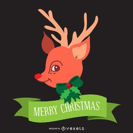 Christmas reindeer illustration design