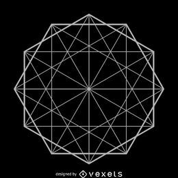 Formación de decágono geometría sagrada