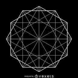 Geometria sagrada da formação do decagon