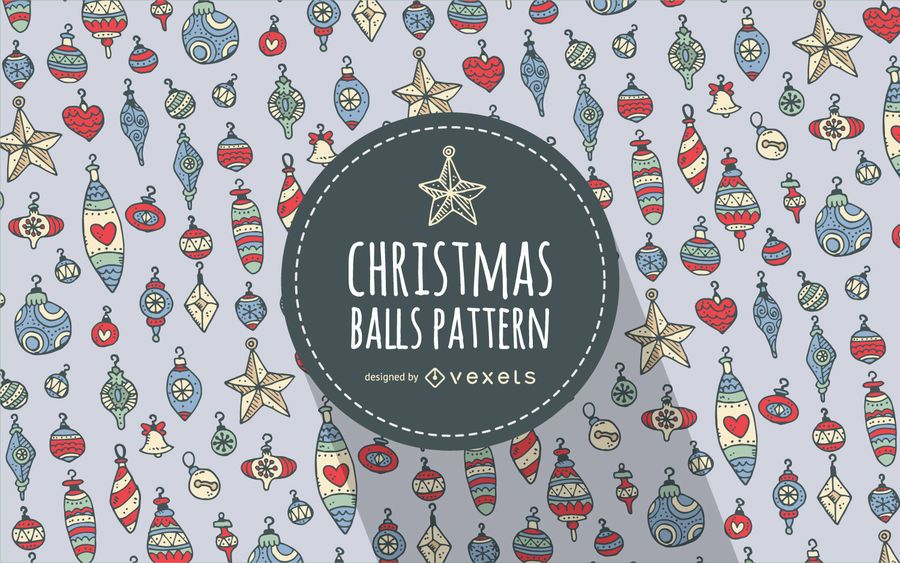 Christmas ornament pattern background