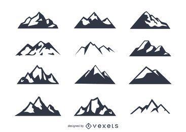 Conjunto de ícones da montanha