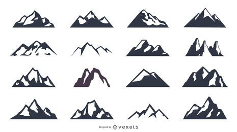 Mountain Silhouette Icon Set