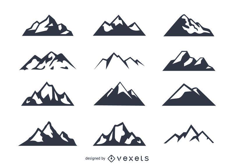 Ícone da montanha set