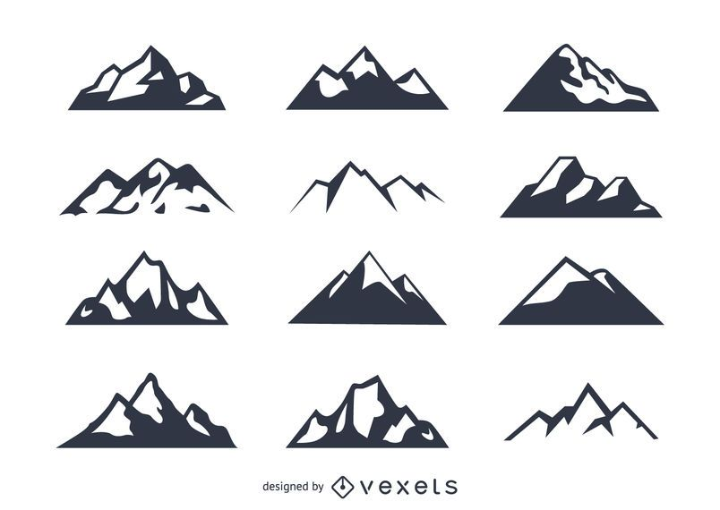Icono de la montaña conjunto